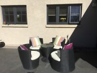 Rattan garden furniture set 5 piece