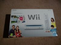 Wii console + Wii draw + Wii fit + Games