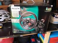 Logitech Driving Force steering wheel