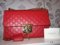 Red Gucci Padlock Handbag- first come first serve