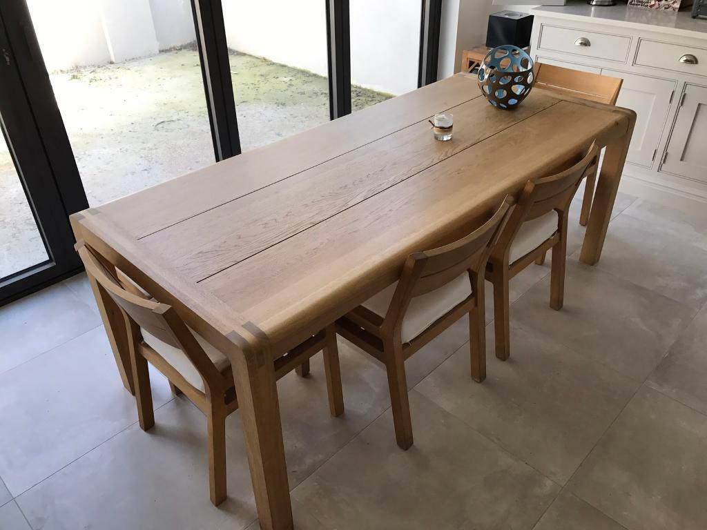 sold** habitat radius dining table and chairs | in clapham, london