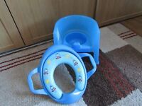 childs potty chair plus toilet training seat from mothercare