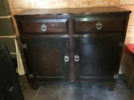 Beautiful solid dark wood cabinet