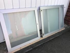IKEA Glass Silver doors