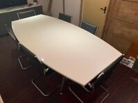 boardroom table and 8 leather chairs location BREDON TEWKESBURY not Chester