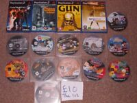 PLAYSTATION 2 GAMES £10 THE LOT