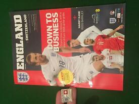 England programme and pin