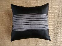 Cushion with Black and Grey Cover and Polyester Filling for Chair / Rocking Chair