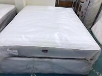 NEW king-Size Divan Bed with Drawers & Memory Foam with Springs, Mattress by Airsprung.Free Delivery