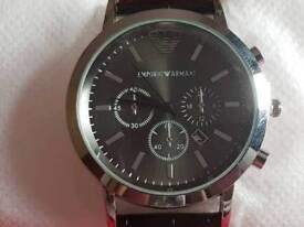Armani Watch Black Mens