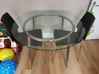 Ikea Salmi dining table and chairs