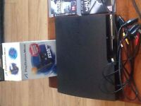 Mint Condition PS3 (boxed) inc all wires, 2 controllers with chargers, Playstation Move + 33 games