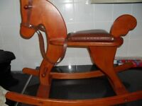 moulin row wooden rocking horse