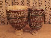 Double African bongo drums