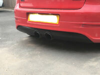 R32 MK5 Rear Diffuser(black exhaust surround)