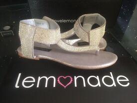 Beautiful sparkling sandals