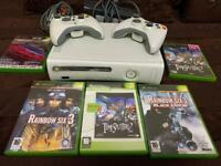 Xbox 360 console with 5 games
