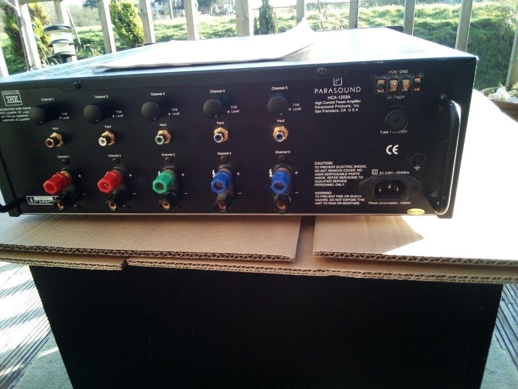 Parasound Home Cinema THX Amplfier 5 Channel Power Channel HSA-1205A 200  Watts RMS Per Channel