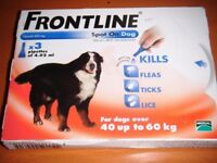 frontline spot on dog 40 to 60kg 1 packet of 3