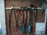 A job lot of used garden tools being sold due to moving to flat with no garden