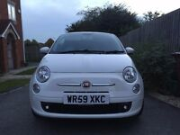 2009 59 Fiat 500 1.2 Sport 3 door in White Low Miles FSH Long MOT
