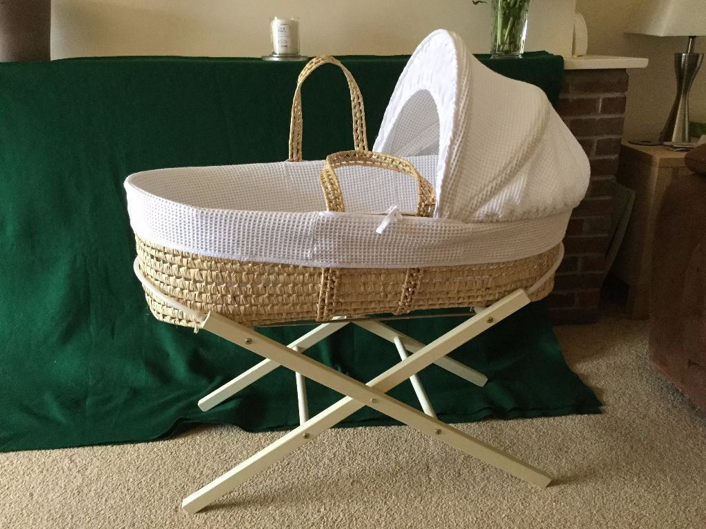 Baby cribs john lewis - John Lewis Baby Moses Basket Crib Stand Mattress Cover Included