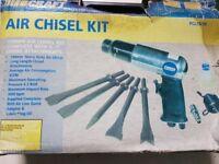 POWER CRAFT PCAT5/09 AIR CHISEL KIT,190mm