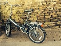 Raleigh fold up bike used once bargain
