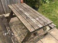 FREE Solid wooden picnic table
