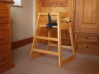 Tablecraft Restaurant Style Solid Wood High Chair/Highchair With Harness