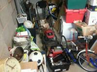 GARAGE CLEARENCE *TOOLS SPANNERS TOOL BOX BIKE PUMP BED CAR BOOT JOBLOT*
