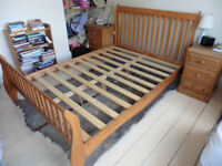 Wooden double 4foot 6inch bed frame. Good condition.