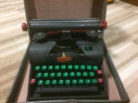 Vintage Mid 20th Century Lilliput Children's Typewriter and Original case