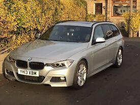 BMW 3 Series 320d M Sport Touring - Low milage, FSH, Sunroof, Heated Seats, SatNav, Silver Metallic