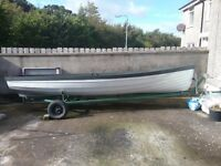 17ft lough boat for sale with a 5hp 4 stroke engine
