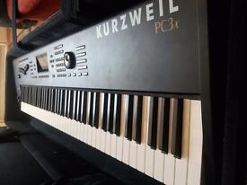 Kurzweil PC3x Performance controller keyboard + KORE 64 expansion + keyboard case + double X-frame!