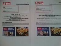 2 tickets for chessington world of adventures for 17 july 2017
