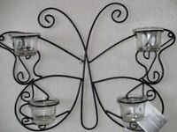 BUTTERFLY DESIGN TEALIGHT CANDLE HOLDER (New & Boxed)
