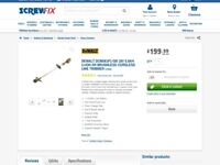 DeWalt Garden Strimmer with battery & charger for sale