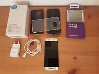 Samsung Galaxy S6 Edge 64GB Gold Unlocked With Box and 4 cases Good Condition!!!
