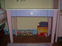 Pink Lilac and White Desk/Dressing Table