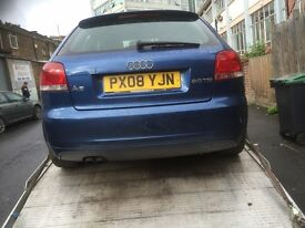 08 AUDI A3 2 DOOR 2.0 TDI THIS CARS FOR PARTS AVALIABLE
