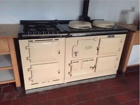 MUST GO: AGA Cream Classic (2 oil oven with 4 gas hob, 2 electric oven module)