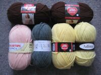 Various Colours of Knitting Yarn