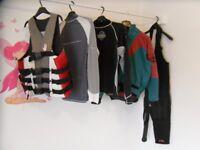 Kayak kit - dry cag - buoyancy aid - Hiking wet suit - rash vests