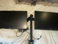 "BENQ GW2406Z - 24"" - Pair - IPS - FHD - With Desk Stand"