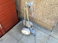 Golf Trolley Cart With Fold Away Design. Good Condition. For Clubs Irons Set etc