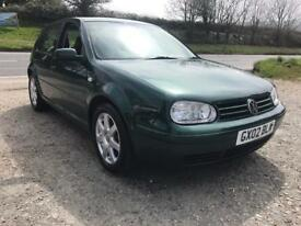 VOLKSWAGEN GOLF GTI 1.8 TURBO 5DR GREEN 2002 LEATHER RECAROS