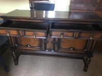 Antique Solid Oak Sideboard/Dresser Base