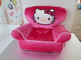 Build A Bear - Hello Kitty Pink Velvet Arm Chair